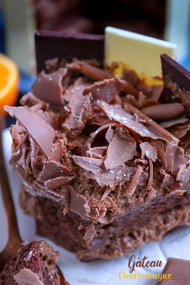 gateau chocolat et praliné