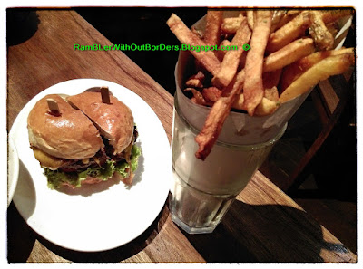 California burger, Wildflour, Makati, Philippines