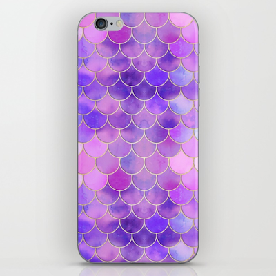 Ultra Violet Mermaid Scale Pattern iPhone Case from Society6