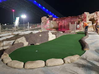 Dino Falls Adventure Golf course at the Trafford Golf Centre