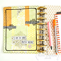 Kim Dellow Altered Happy Planner cover DIY