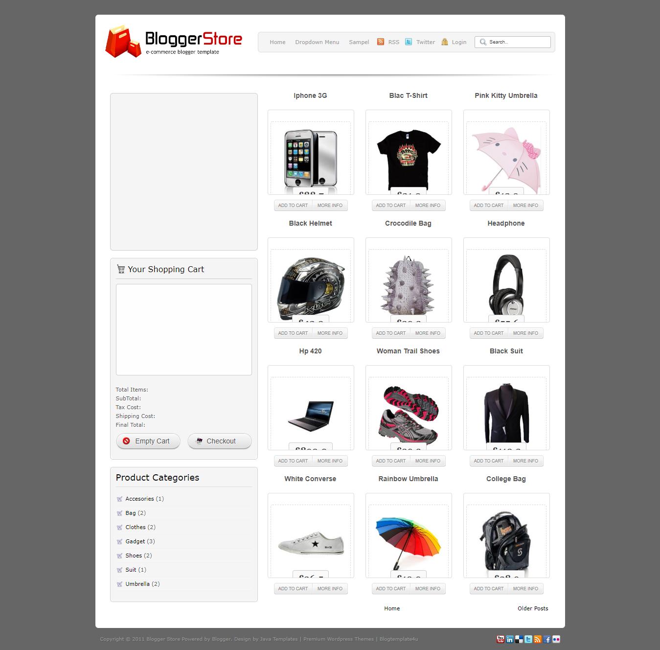 Blogger store ecommerce blogger template zona template description maxwellsz
