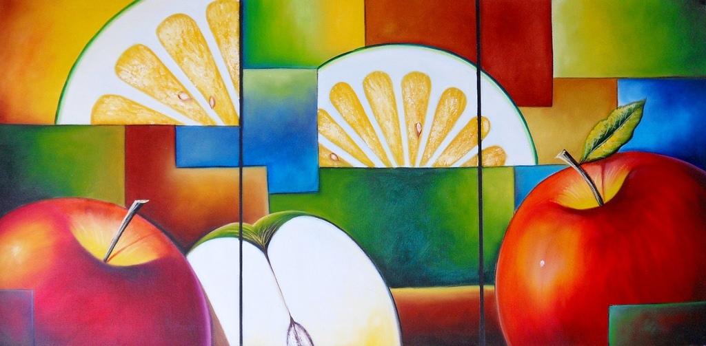 Cuadros De Comedor Modernos. Pinturas Africanas Con