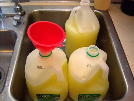 Homemade Custom-Scented Liquid Laundry Detergent pour