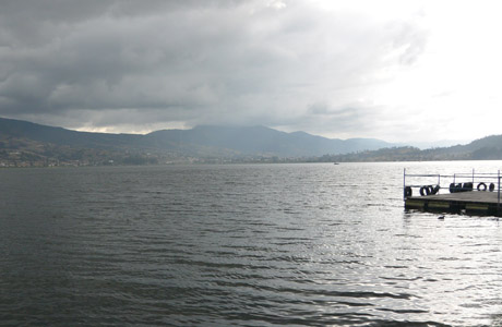 Lago en Ecuador