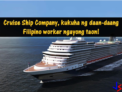 "More than 400 Filipino workers can be hired this year by a cruise ship firm this 2018. This is an offer from the world's largest travel leisure company Carnival Corporation. It said hundreds of Filipino seafarers will be needed for its premium cruise company — Holand America Lines (HAL)  According to HAL President Orlando Ashford, the new cruise ship will be launch this year and it will be dubbed as Nieuw Statendam. For the operation of the said cruise ship, they will be needing more than 400 Filipino seafarers.   ""What we've found is that our Filipino partners are they're smart, energetic, they have a great sense of humor, and we really want that in connecting with our guests,"" Ashford said in an exclusive interview with ANC's The Boss.   Ashford said that the new cruise ship, which will be the largest in their fleet, will be able to accommodate 2,666 guests. At a ratio of 1 employee for 2 guests, they would need around 1,300 staff and 34 percent of those would be Filipinos, he said.   Ashford added that HAL has two schools training potential hires in the Philippines. The schools are located in Antipolo and Intramuros:  Applicants are trained for the following; food service culinary work front office work refrigeration plumbing other skills needed on a ship  He said he spent several days in the country talking to HAL's teachers, students, and partners about the company's expansion. One of HAL's concerns, he said, was about attracting enough talented people to work for the company as it grows.   Ashford added that in spite of the decreasing opportunities for Filipino seafarers due to competition from other counties, he does not see his company reducing the number of Filipinos they will be hiring for their cruise ship jobs."