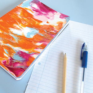 DIY Symmetrical Painting Notebooks