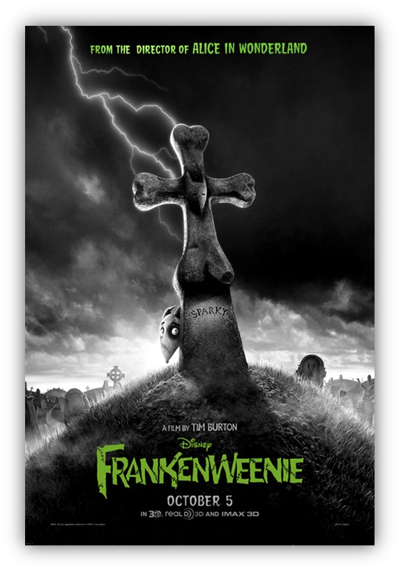 Marketsaw 3d Movies Gaming And Technology See First Poster For Tim Burton S Frankenweenie