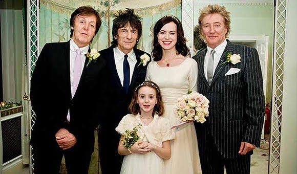 Paul McCartney témoin de mariage de Ronnie Wood et Sally Humpreys