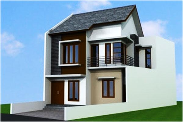 redering desain rumah minimalis 2 lantai