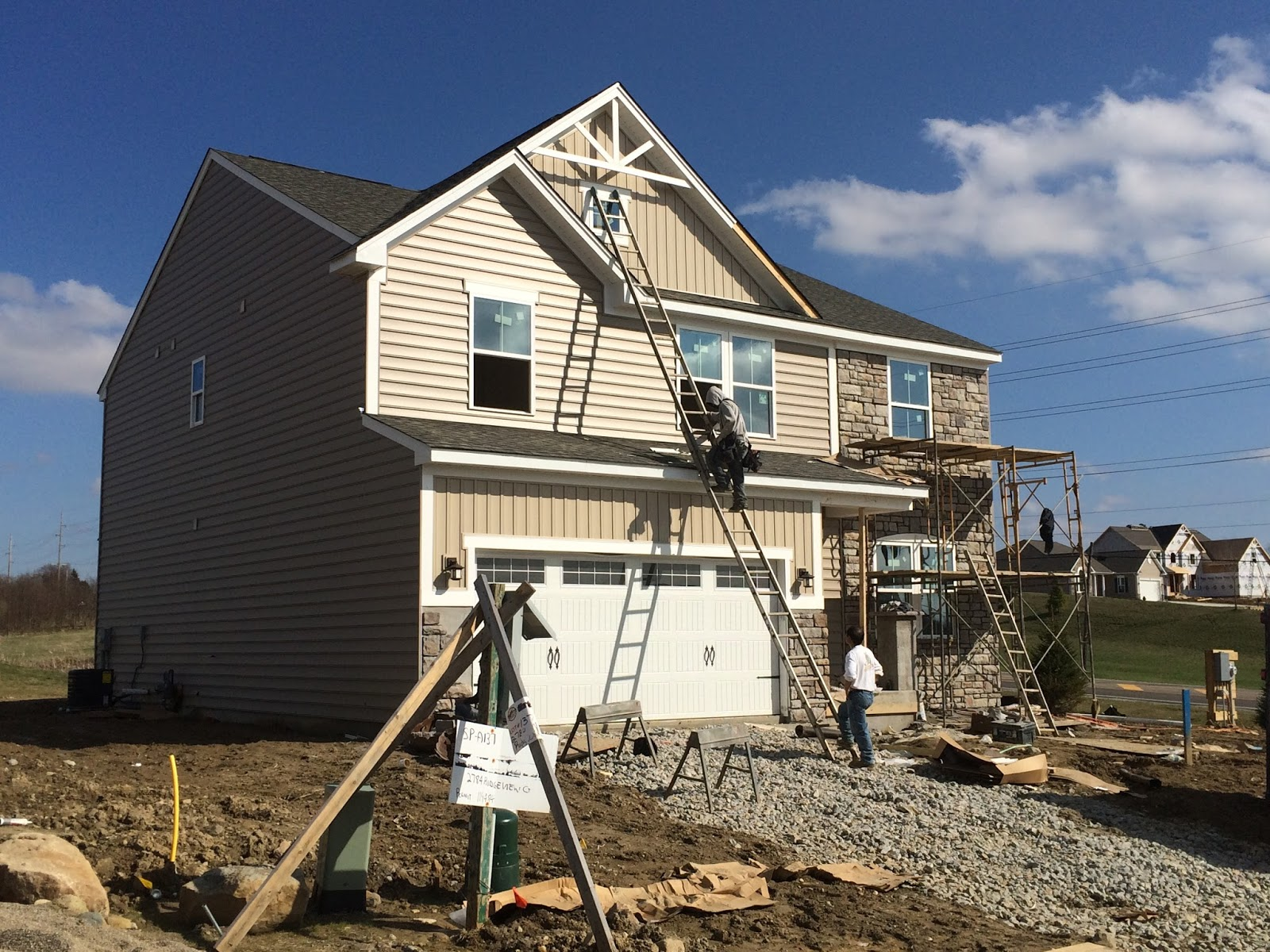 Ryan Homes Milan New Home Construction Experience Exterior Work Continued