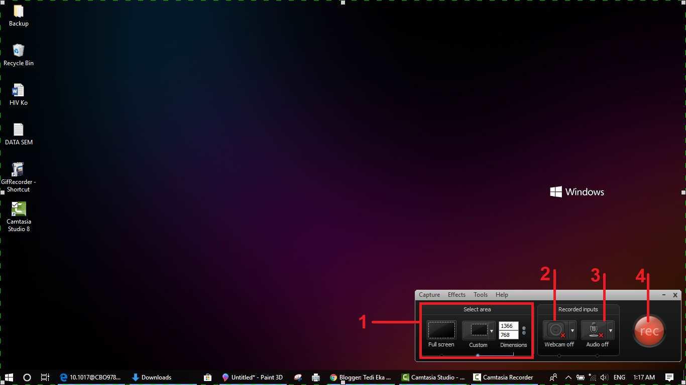 Cara merekan layar menggunakan camtasia