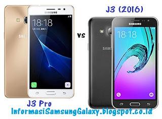 Perbandingan Samsung Galaxy J3 Pro vs J3 (2016)
