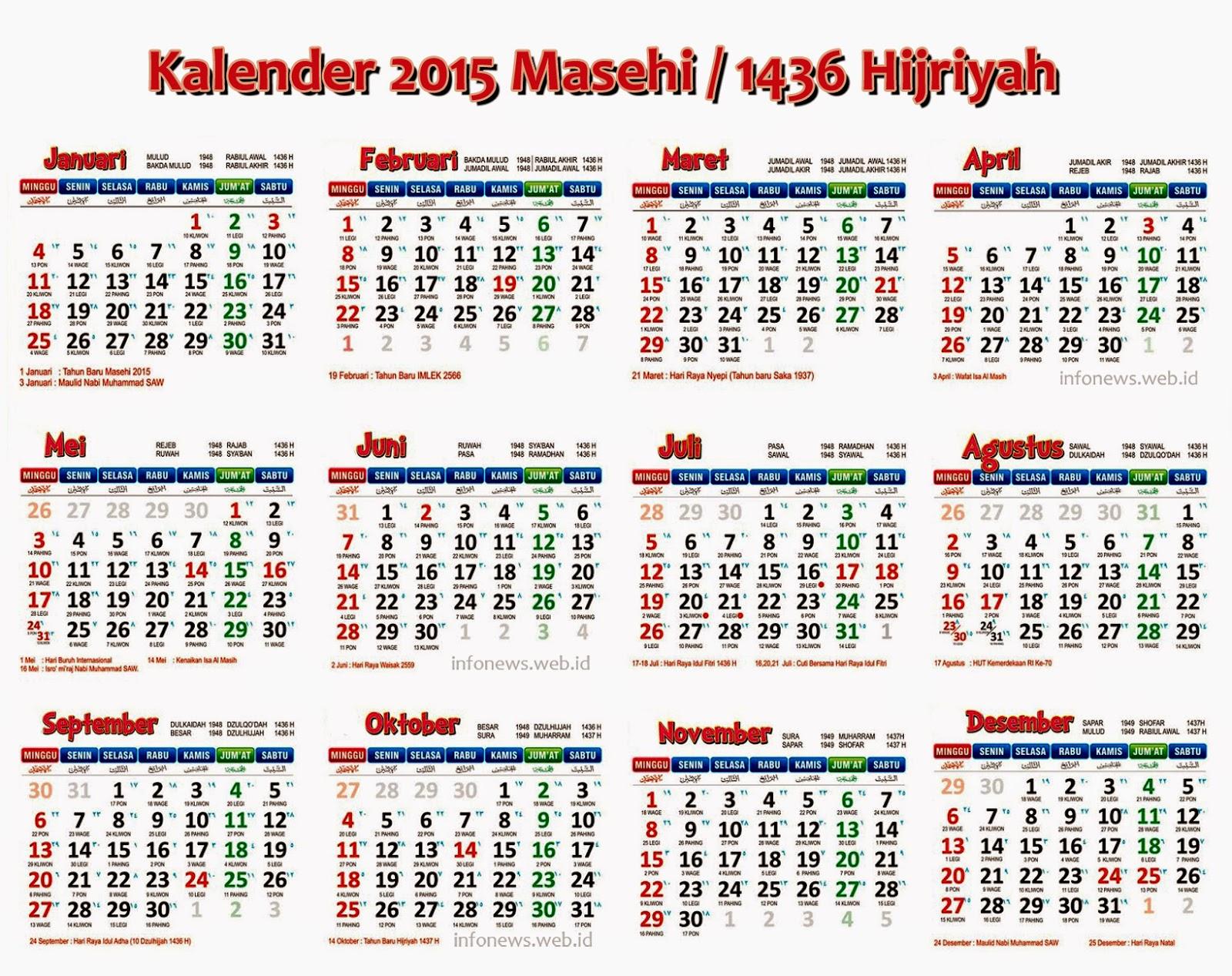 Catatan Syifa Kalender Hijriah