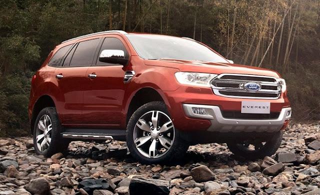 Ford Everest có mức giá cao cho phiên bản mới nhất