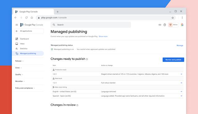 Managed Publishing on Google Play Console