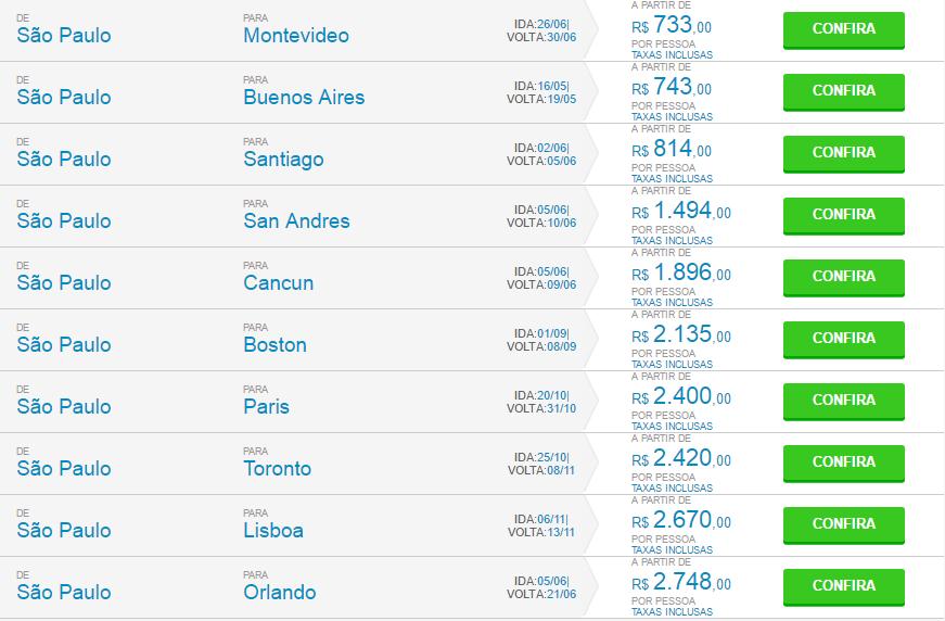 Sub TRIP Internacional, Parcelamentos em até 12x S/juros