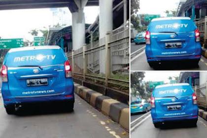 Heboh.. Foto-foto Mobil Metro Tv Masuk Jalur Busway, Tapi Ada Yang Aneh, Apa itu?