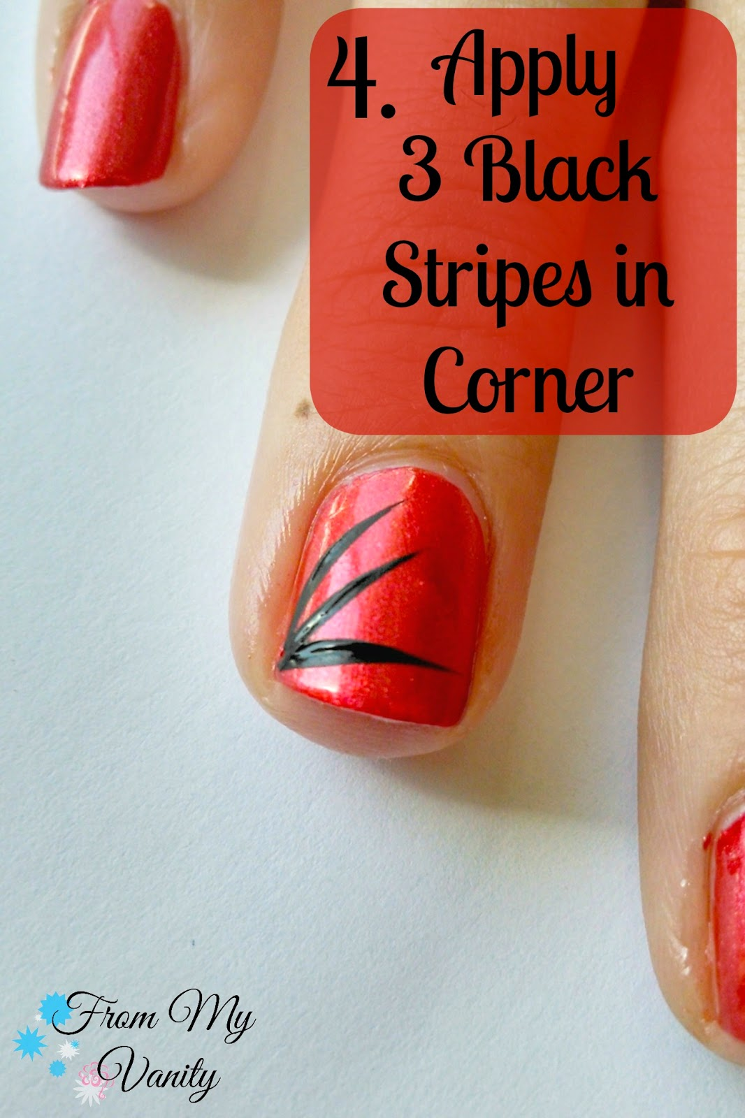 Create A Super Easy Striped Nail Art Design Nail Tutorial From My Vanity