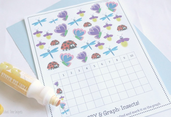 preschool i spy graphing printable