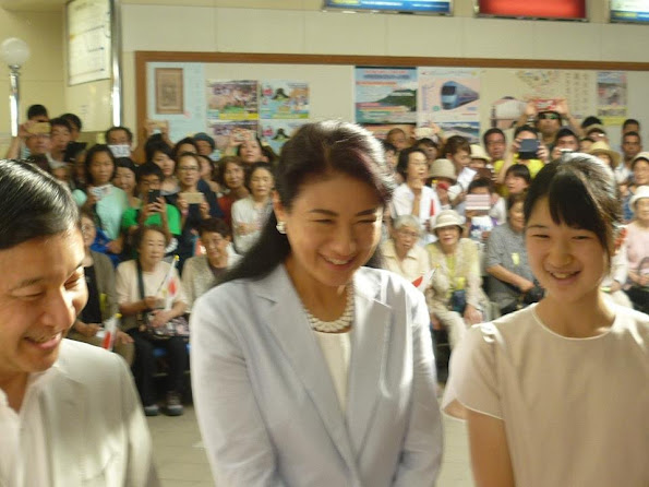 Crown Prince Naruhito, Crown Princess Masako and Princess Aiko at Suzaki Imperial Villa in Shimoda, holiday