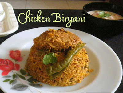 Chicken Biryani Recipe @ http://treatntrick.blogspot.com