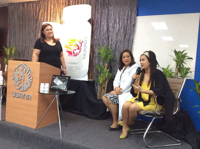 L-R: Ms. Blasurca; Dr. Marjhoree Khandee T. Papa, MD, Obstetrician-Gynecologist/Sonologist; GOLD Director USANA Philippines; Madelyn Corpuz, RN (Cum Laude) DIAMOND Director Usana Philippines.