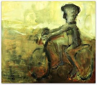 Iberê Camargo - Série Ciclistas (1990) - óleo sobre tela