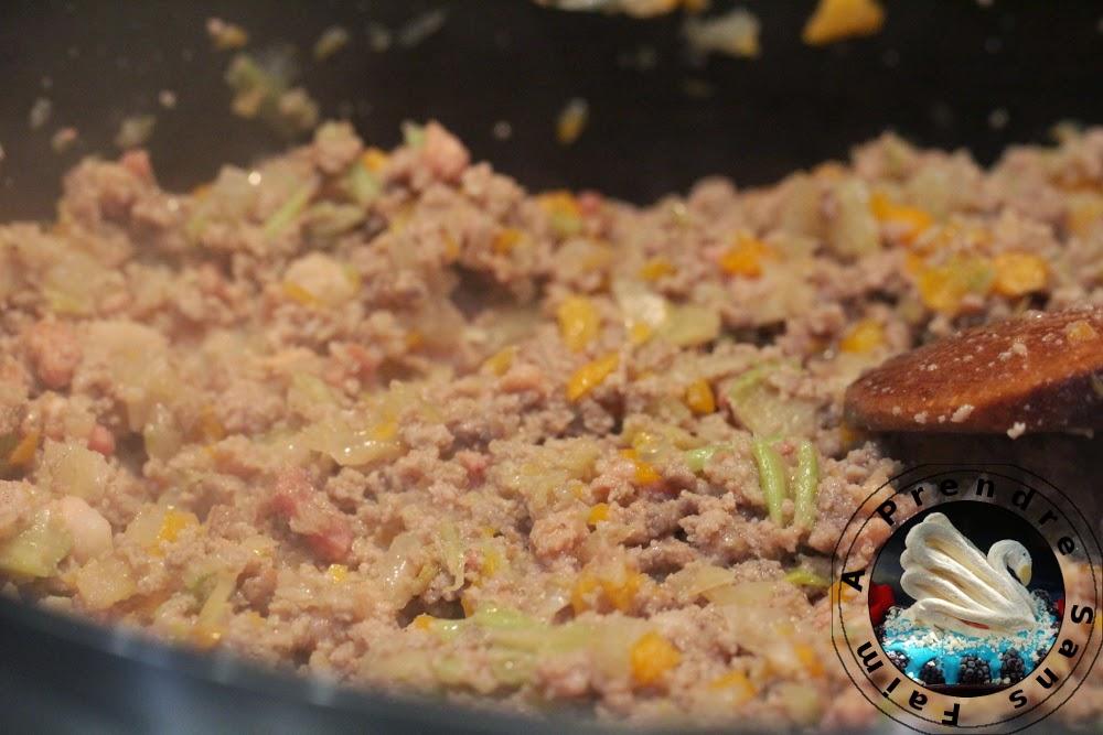 Boeuf haché sauce barbecue pour pâtes (pas à pas en photos)