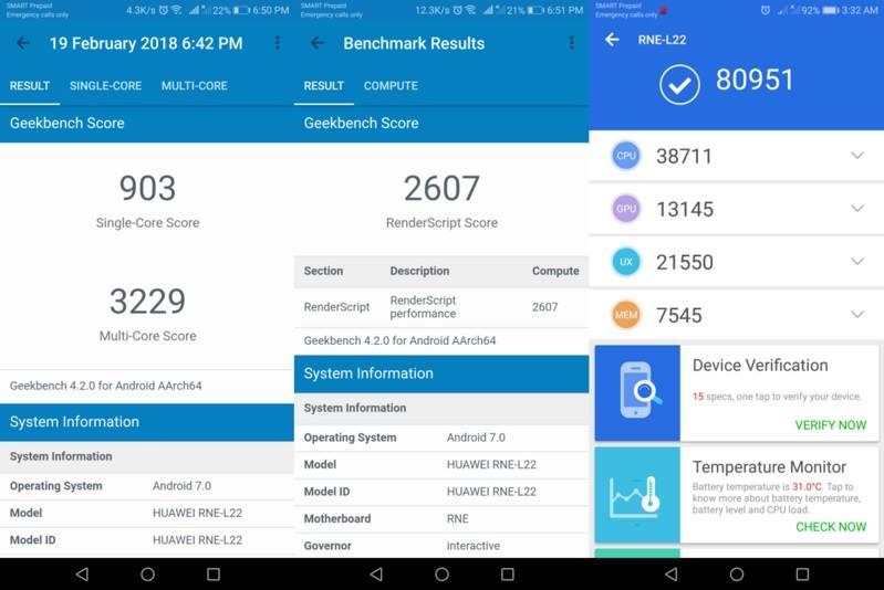 Huawei Nova 2i Benchmark Scores