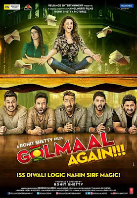 Golmaal Again 2017 Hindi DVDRip 480p 200Mb HEVC x265