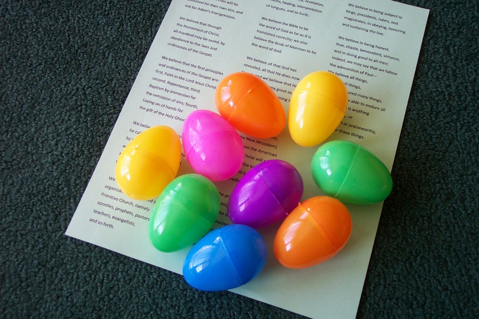 Activity Day Tools Articles Of Faith Easter Egg Hunt