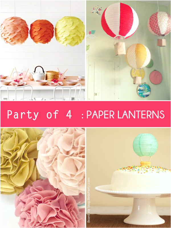 Party Ideas with Paper Lanterns  - via BirdsParty.com