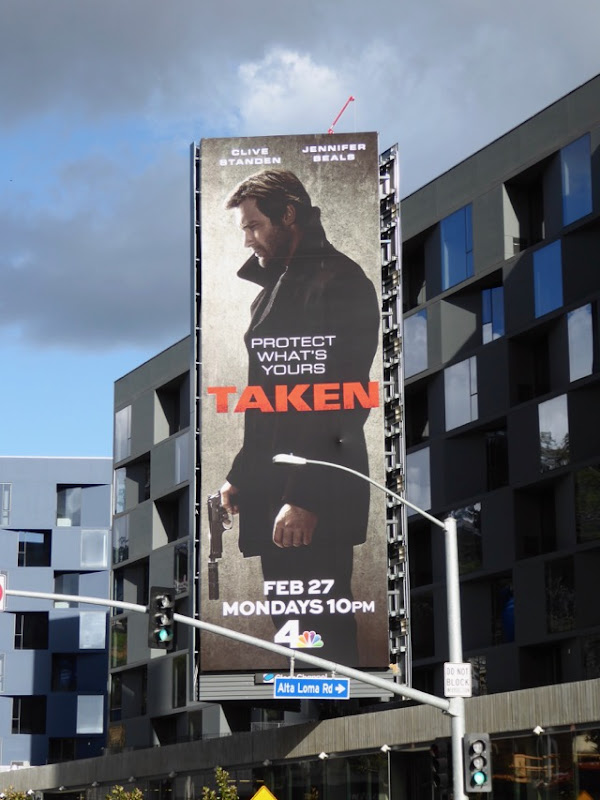 Taken TV series billboard Sunset Strip