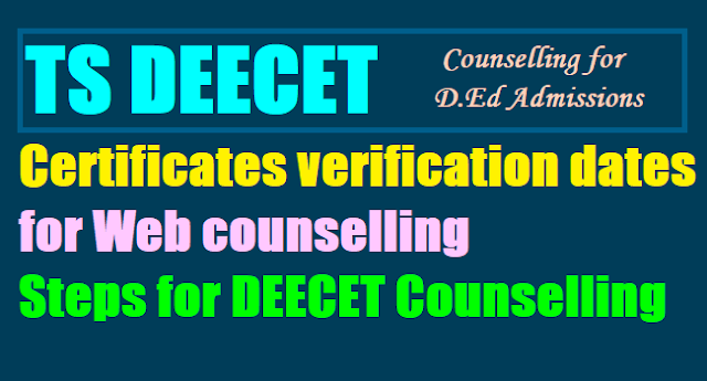 ts deecet 2019 counselling,1st 2nd 3rd phase Web counselling dates,schedule,web options I first,II second III third phase dates,web options,seats allotment,tsdeecet 2017 ded admissions