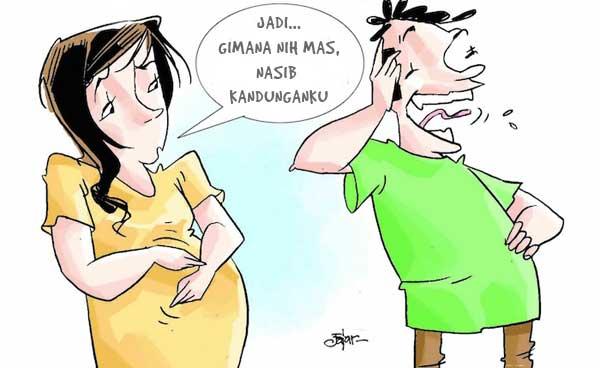 ilustrasi hamil diluar nikah