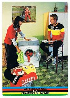 Publicité avec Freddy Maertens pour les machine à laver Flandria