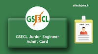 GSECL Junior Engineer Admit Card