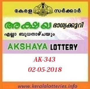 AKSHAYA AK-343 LOTTERY RESULT