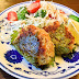 Fubaagu no shisomaki / small gluten cake burgers wrapped with perilla leaves