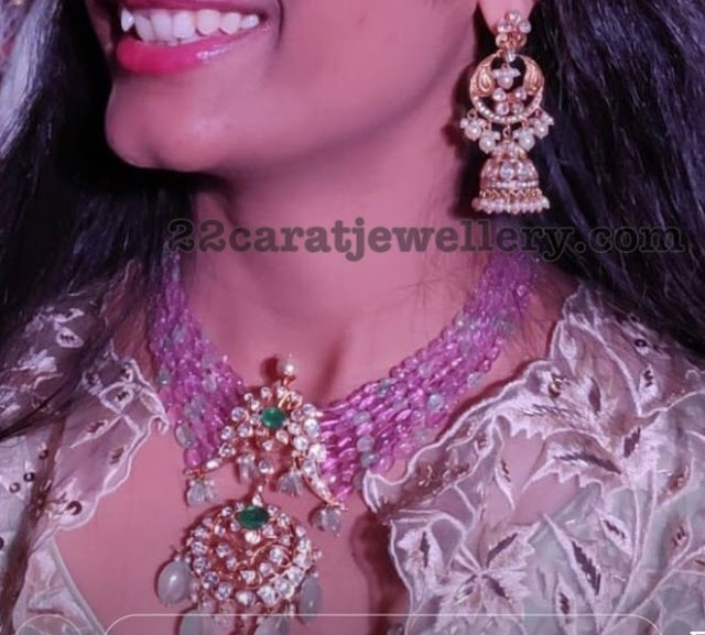 Beads Set with Pendant by Manjula Jewels