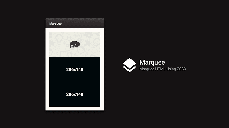 Marquee CSS3 - Alternative For Marquee HTML Using CSS3