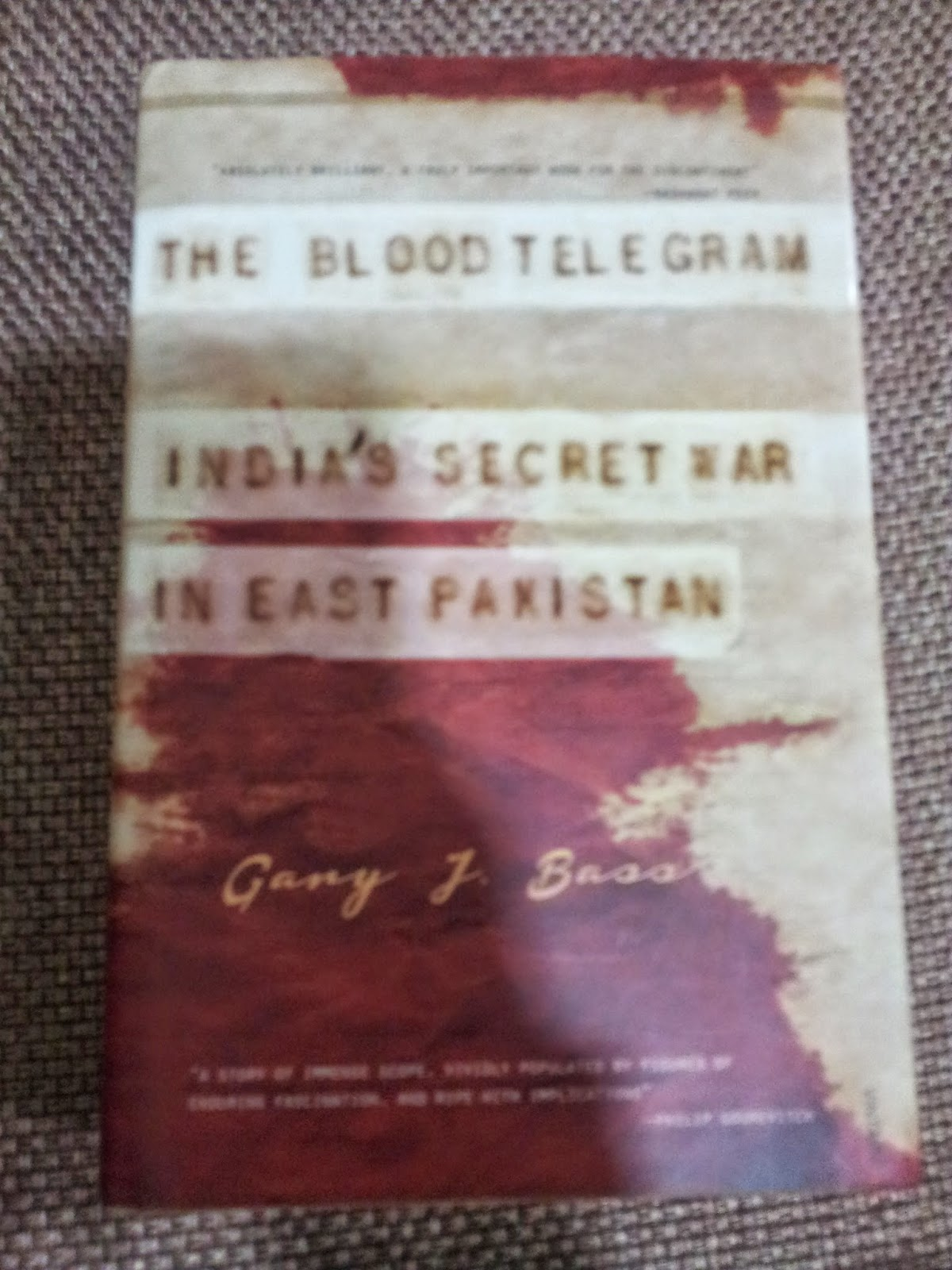 BJ's nocabbages: Book Excerpt: The Blood Telegram - India's