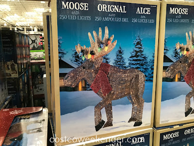 45in LED Glitter String Moose with Tangled Lights: great for Christmas and the holidays