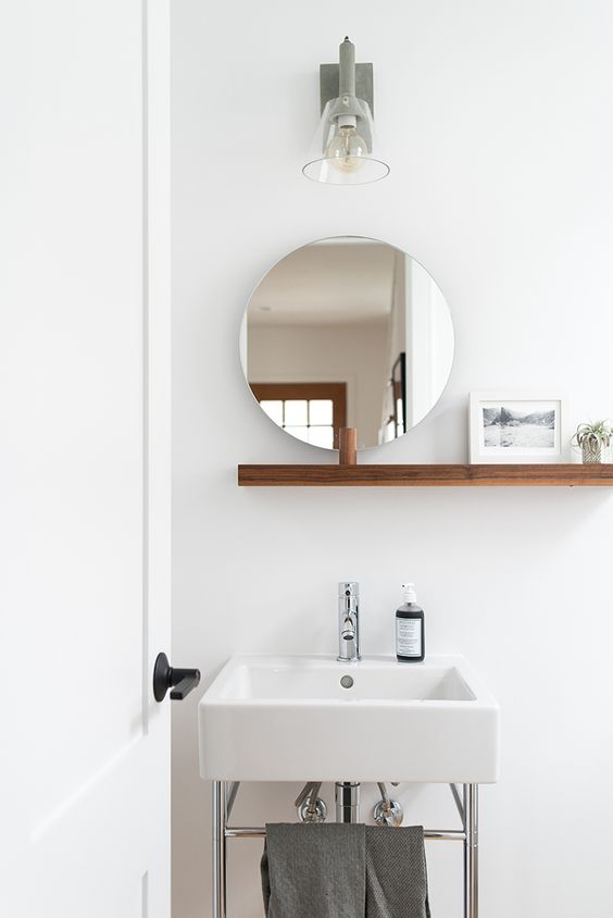 Ideias de decoração de banheiros em cores claras