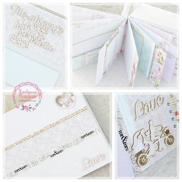 album ślubny, księga gości, ręcznie robiona, scrapbooking, handmade