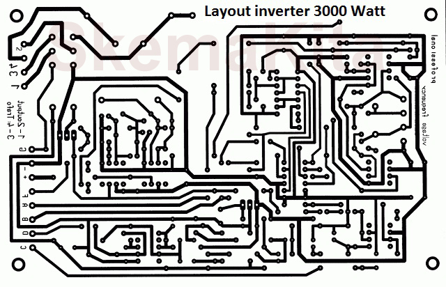 PCB LAYOUT 3000 Watt Inverter Circuit Diagram