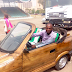 Nigerian Man Cruises Around In A Wooden Car Made In Niger State