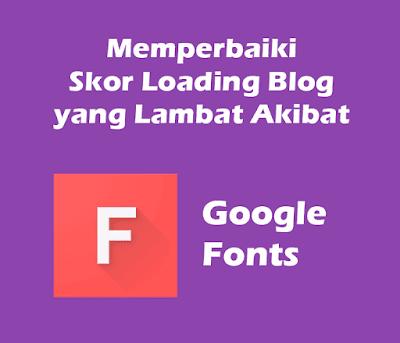 Memperbaiki Skor Loading Blog Akibat Memasang Custom Fonts
