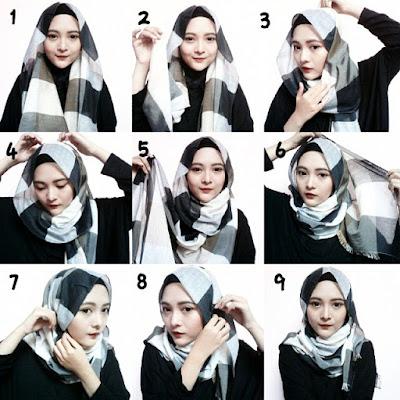 Cara Memakai Jilbab Pashmina Sederhana dan Modis